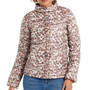 Bernardo Leopard Print Packable Puffer Jacket